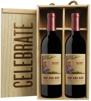 """Celebrate"" Gift Box: Two 2016 'Nuf Sed Red' /Harry & David"