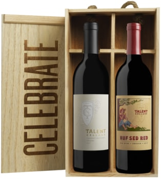 """Celebrate"" Gift Box: 2015 Cab Sauvignon and 2016 'Nuf Sed Red' /Harry & David"